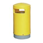 Yellow Outdoor Hooded Top 75Ltr Bin