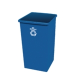 Blue Paper Recycling Bin Base 132.5L