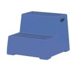 2 Tread Blue Plastic Safety Step