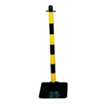 Freestanding Post Square Rubber Base Y/B