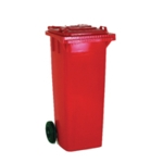 Red 2 Wheel Refuse Container 120 Ltr