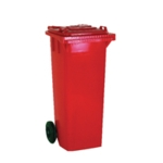 Red 2 Wheel Refuse Container 240Ltr