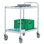 General Purpose 2 Shelf Grey Trolley