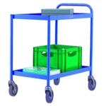 General Purpose 2 Shelf Blue Trolley
