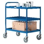 General Purpose 3 Shelf Blue Trolley