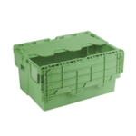 Attached Lid 54L Green Container 360330