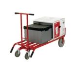 Hand Truck 3-In-1 Pu Wheel/Castors Red