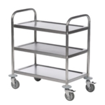 Trolley Stainless Silver 3-Tier
