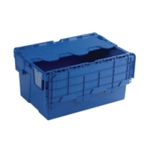Attached Lid 54L Blue Container 375815