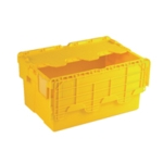 Attached Lid 54L Yellow Container 375817