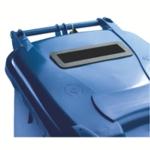 Blue Confidential Wheelie Bin 140 Ltr