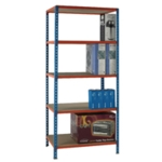 Blue/Orange 90x30cm Shelving Unit 378966