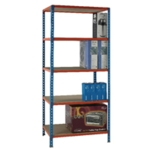 Blue/Orange 90x40cm Shelving Unit 378969