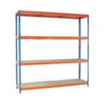 Orange/Zinc 2500X2400Xd900mm Shelving