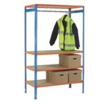 Orange 900mm Garment Rail Extra Poles