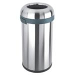 Open Top Bullet Bin 60L Silver 380856