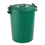 Light Duty Green Dustbin and Lid 110Ltr