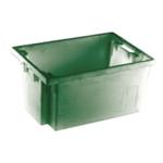 Green Solid Slide Stack/Nestng Container