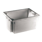 Grey Solid 600X400X300 Nesting Container