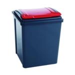 VFM Recycling Bin Lid Red 50L