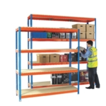 Orange/Zinc H/Duty 150x75cm Shelf 378854