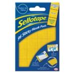 Sellotape Sticky Hook Pads Pk96