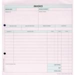 Custom Forms 2 Part Invoice Pk50