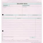 Custom Forms 2 Part Delivery Note Pk50