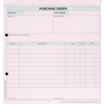 Custom Forms 3 Part Purchase Order Pk50