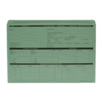 Custom Forms Personnel Wallet Green Pk50