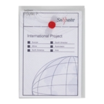 Snopake Polyfile Wallet A6 Clear Pk5