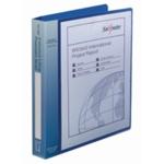 Snopake A4 El/Blue Exec Prestn 4D Binder