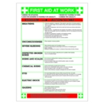 First Aid At Work WC61 Sign