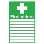 First Aiders 300x200mm Self-Adh Sign