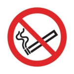 No Smoking Symbol 50x50mm Self-Adh Sign