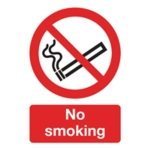 Safety Sign No Smoking A5 PVC