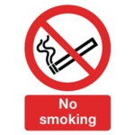 Safety Sign No Smoking A4 Self-Adhesive