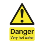 Danger Vry Hot Water 75x50mm Sign