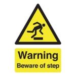 Warning Beware of Step A5 Self-Adh Sign