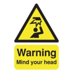 Warning A5 PVC Mind/Head Sign