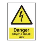 A5 PVC Danger Electric Shock Risk Sign