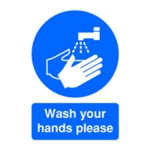 A5 PVC Wash Your Hands Sign