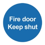 Fire Door Keep Shut 100x100mm PVC Sign