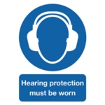 Ear Protection Must be Worn A4 PVC Sign