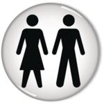 Domed Sign Women / Men Symbol 60mm RDS3