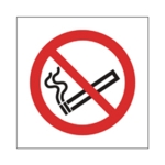 No Smoking Symb 100x100mm Self-Adh Sign