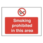 Smoking Prohibited 450x600mm PVC Sign