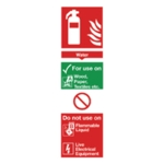 Fire Extinguisher Water 280x90mm Sign