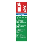 Fire Extinguisher Dry Powder 28x9cm Sign