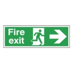 Fire Exit Man Arrow Right 150x450mm Sign